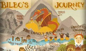 Infographic: Bilbo's Journey